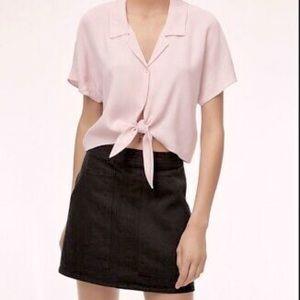 Aritzia Wilfred Free Mini Skirt